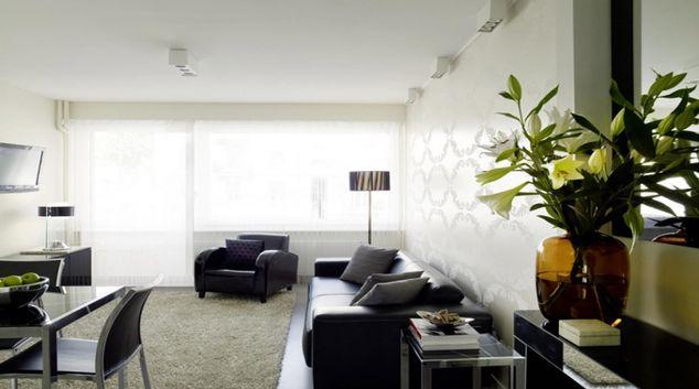 Modern living area at Caroline Apartments