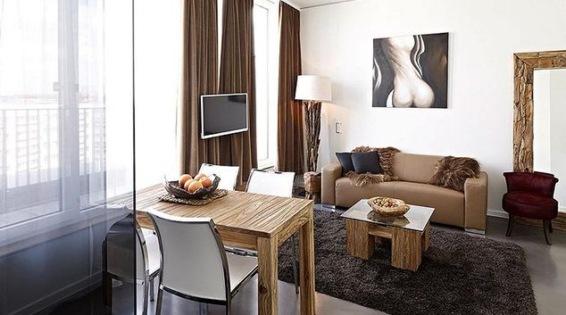 Living area at Otto Braun Strasse Apartments