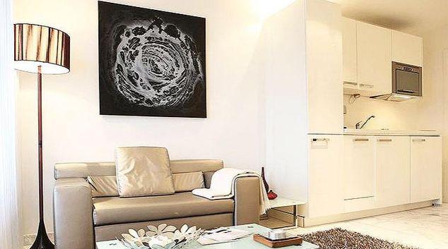 Living area at Binzmuhlestrasse 46 Apartments
