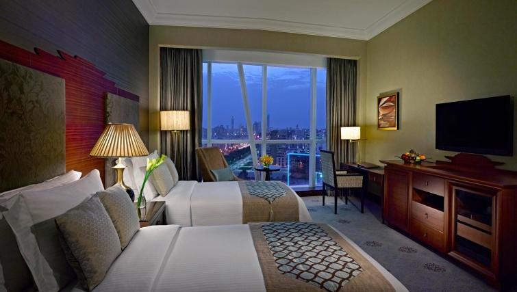 Spacious bedroom at Dusit Thani Abu Dhabi Apartments