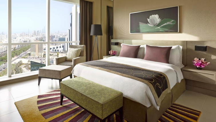 Stunning bedroom at Dusit Thani Abu Dhabi Apartments