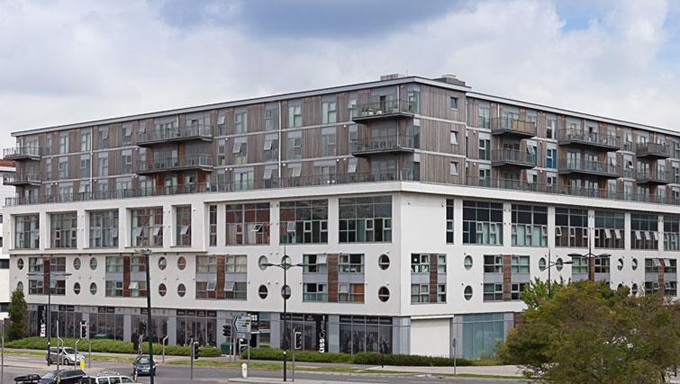 Contemporary exterior of Swindon Paramount Apartments