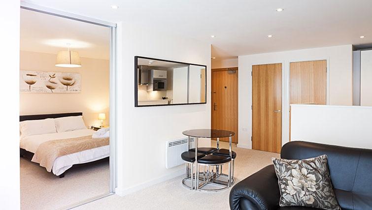 Spacious living area at Swindon Paramount Apartments