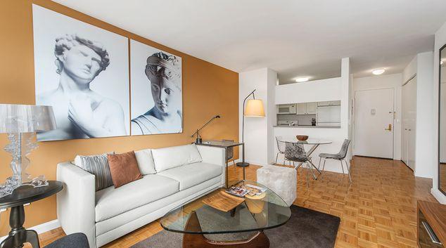 Stylish lounge at Avalon Midtown West Apartments