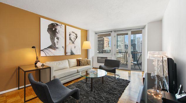 Living area at La Premiere Apartments