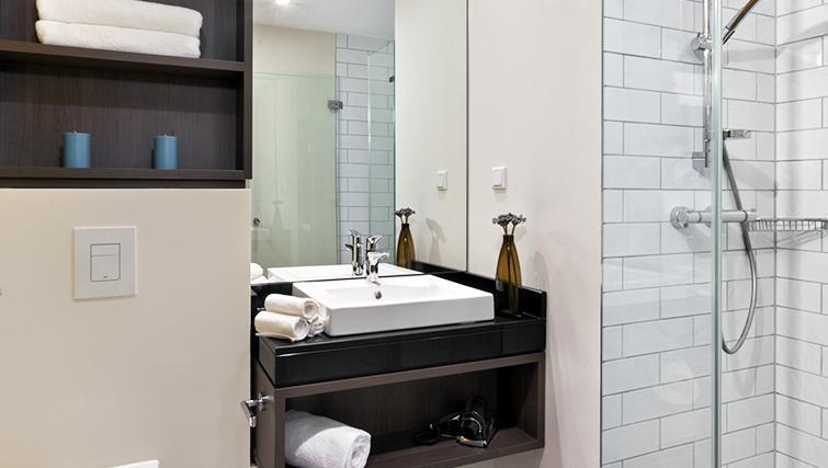 Pristine bathroom at Citadines City Centre Apartments