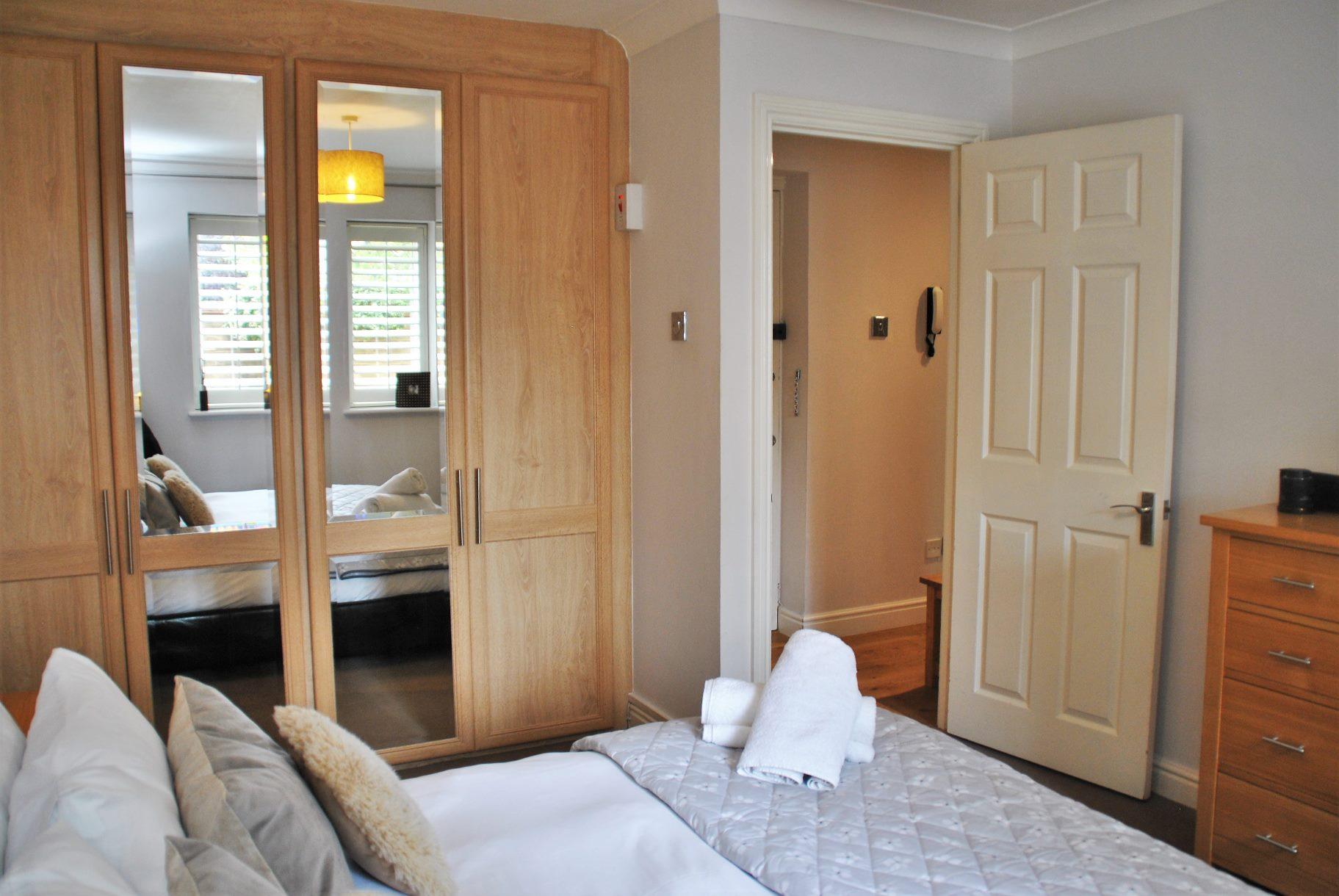 Bright bedroom at Elizabeth Court Apartments