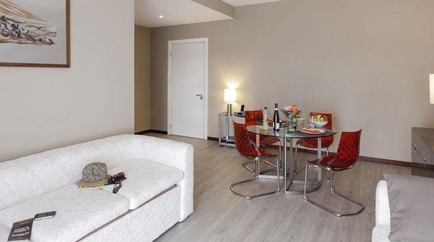 Living area at Aparthotel Adagio Rome Vatican