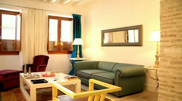 Living area in Relator Apartments