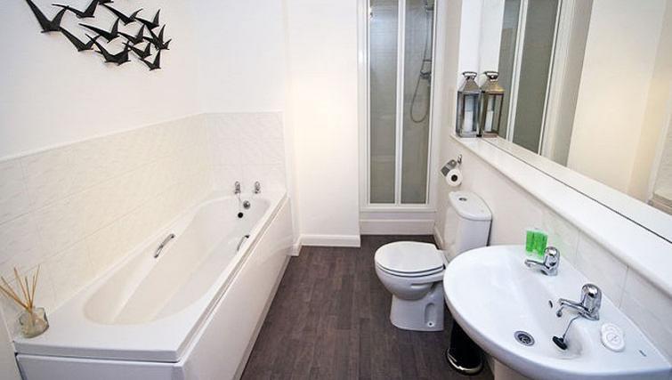 Bathroom at Beach Apartments