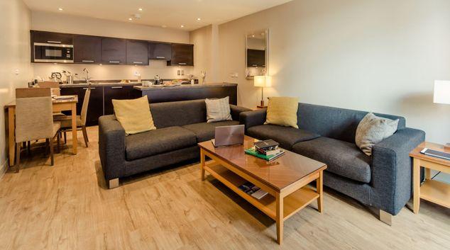 Living room at Premier Suites Manchester