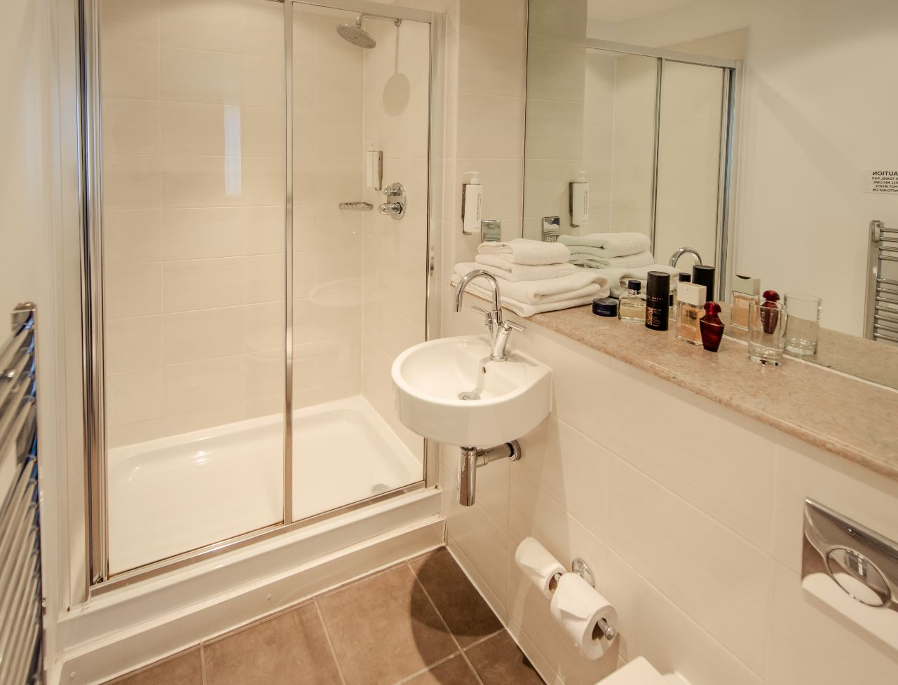 Shower at Premier Suites Manchester
