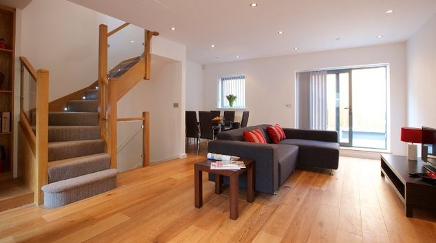 Spacious bright living room at Flying Butler Marylebone Edgware Road Apartments