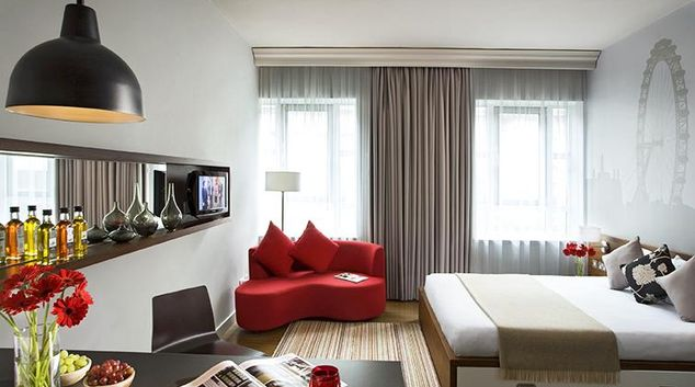Modern living area at the Citadines Holborn & Covent Garden London