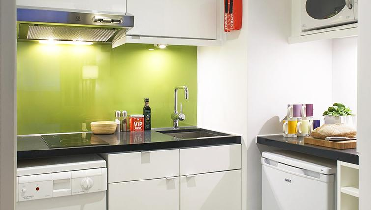 Modest kitchen at the Citadines Holborn & Covent Garden London