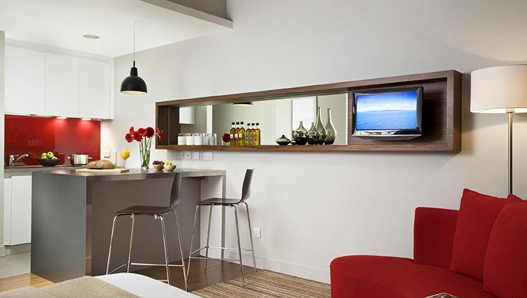 Stylish dining area at the Citadines Holborn & Covent Garden London