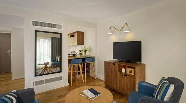 Living area at Citadines Barbican Apartments