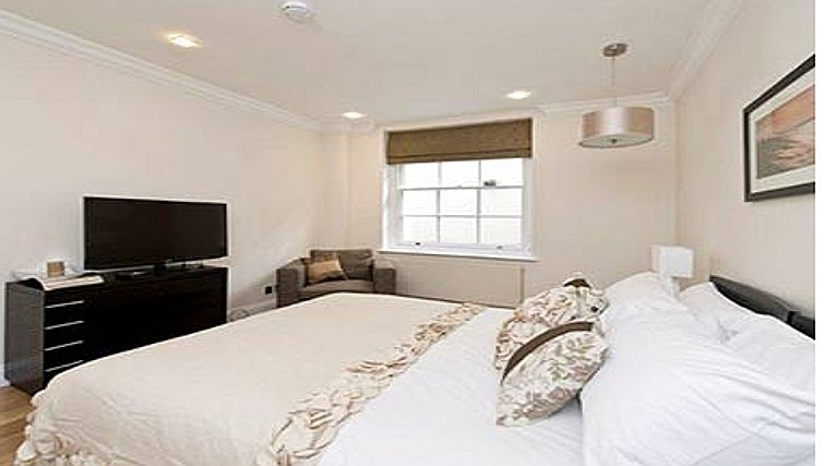 Large bedroom in Farm Street Apartments
