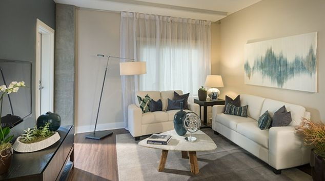 Stylish living area at Channel Bay Apartment