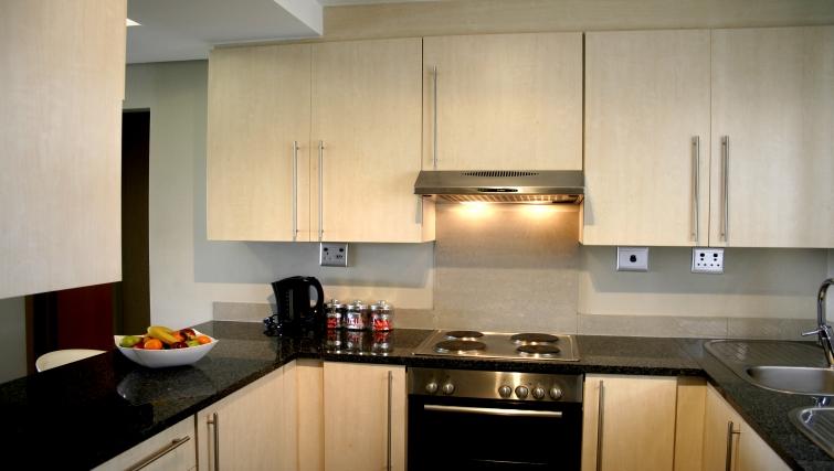 Kitchen at Genesis Suites