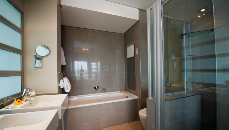 Bathroom at Genesis Suites