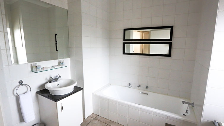 Bathroom at Times Square Executive Suites