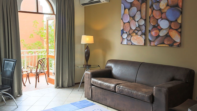 Living area at Times Square Executive Suites
