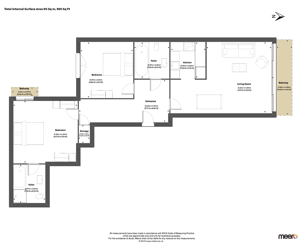 Floor plan at Discovery Dock West