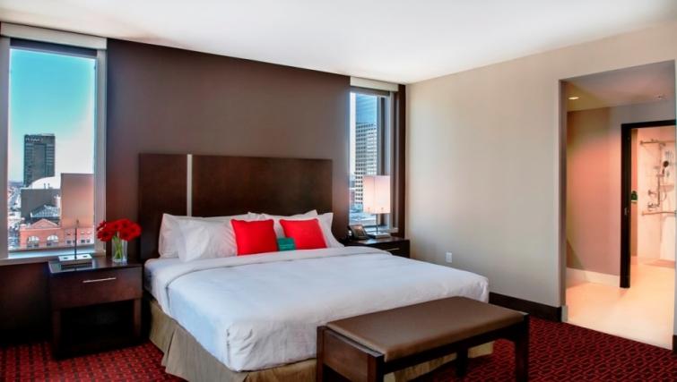 Bedroom in Homewood Suites Denver Downtown Convention Center