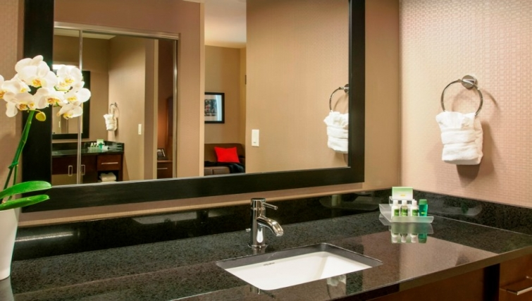 Bathroom at Homewood Suites Denver Downtown Convention Center