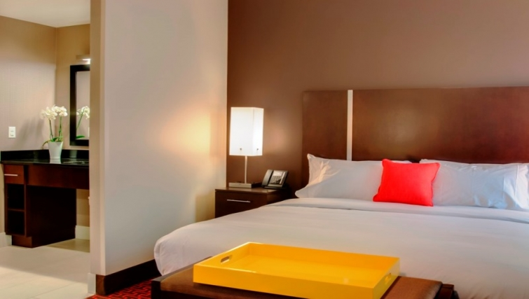 Bedroom at Homewood Suites Denver Downtown Convention Center