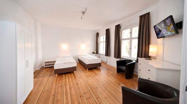 Large living area at Greifswalder Apartments