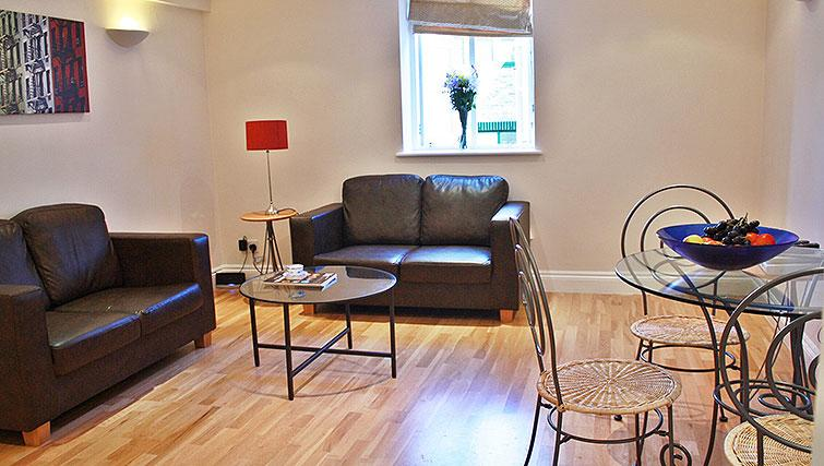 Living area at Abbotts Chambers Apartments