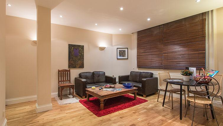 Living space at Abbotts Chambers Apartments