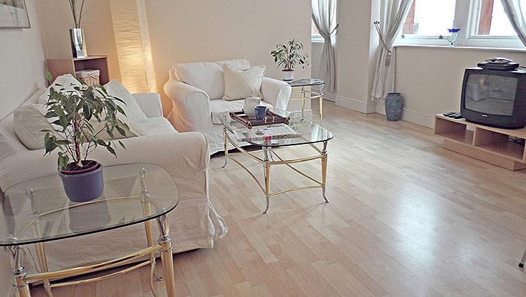Living space at Astral House Apartments