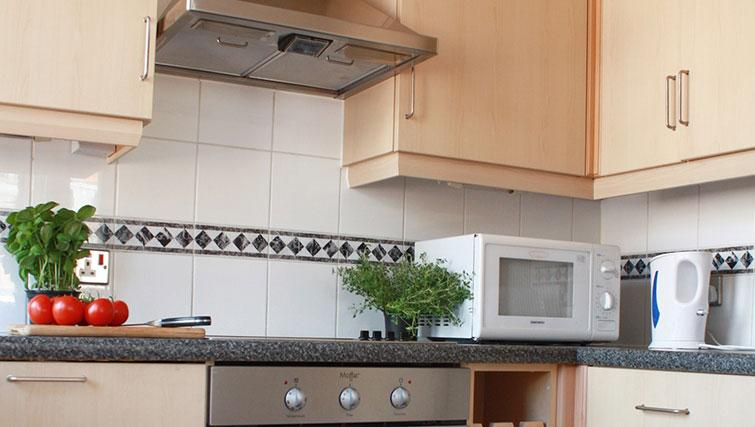Kitchen at Astral House Apartments