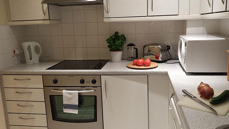 Fully equipped kitchen at Astral House Apartments