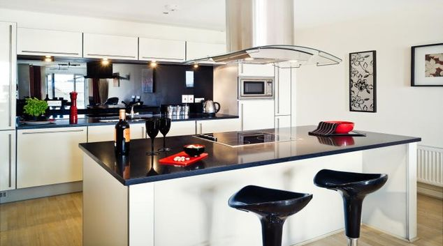 Kitchen at The Meridian Apartments