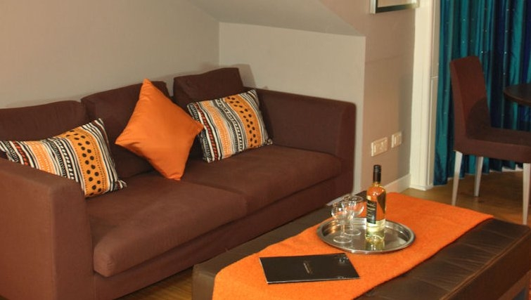 Comofortable living area at Lynedoch Glasgow Apartments