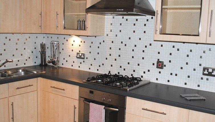 Mature kitchen at Lynedoch Glasgow Apartments