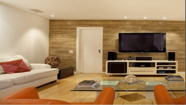 Modern living area at Sweet Om Apartment