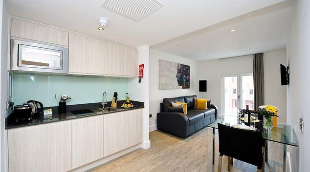 Spacious living area at Staycity London Deptford Bridge