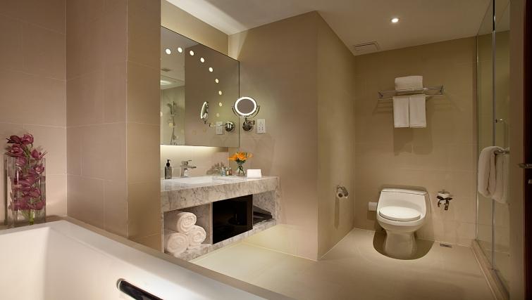 Pristine bathroom at Ascott Midtown Suzhou Apartments