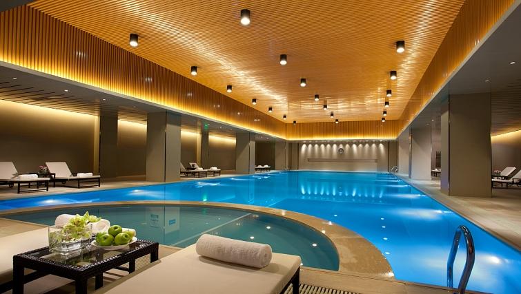 Relaxing swimming pool at Ascott Midtown Suzhou Apartments