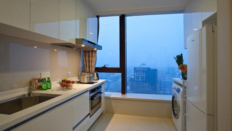 New kitchen at Ascott Midtown Suzhou Apartments