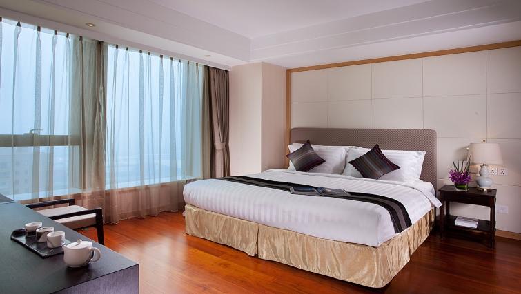 Modern bedroom at Ascott Midtown Suzhou Apartments