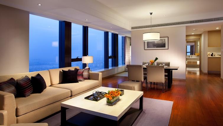 Open plan living area at Ascott Midtown Suzhou Apartments