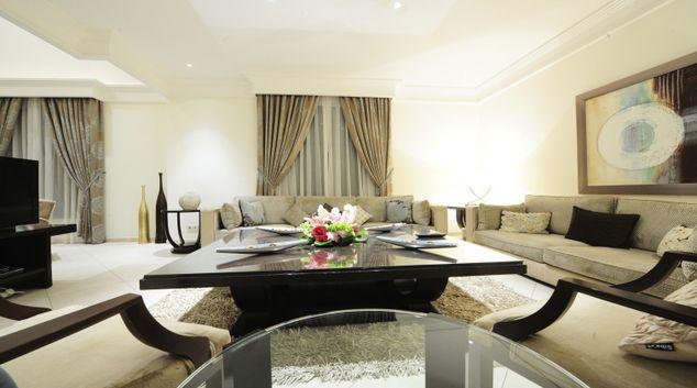 Living area at Vivienda Hotel Villas