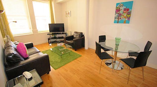 Living area at Sovereign House Apartment