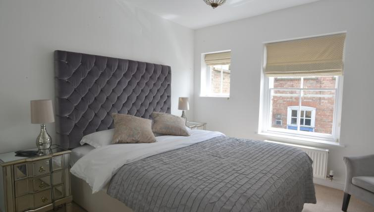 Master bedroom at Straw House Apartments